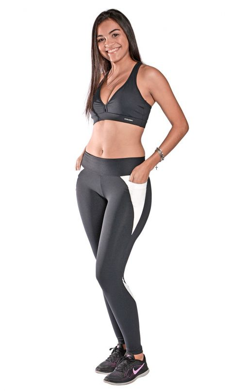 Kit Calça Legging c/ Bolso + Top Nadador