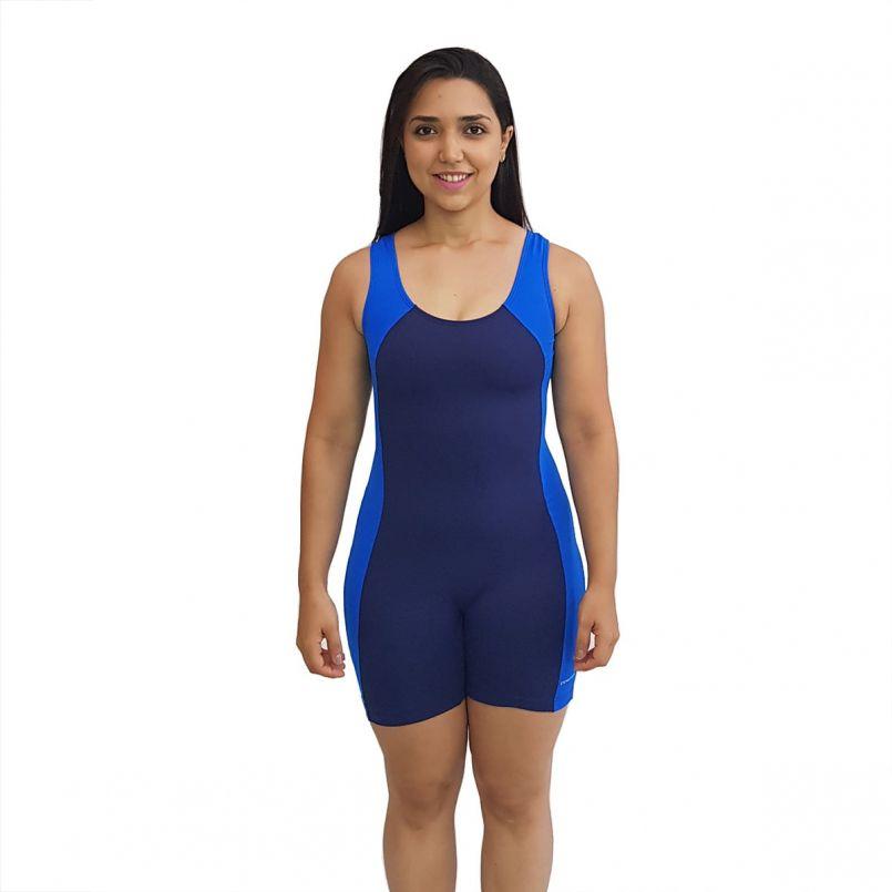 Macaquinho Natação Light Azul Marinho com Azul Bic