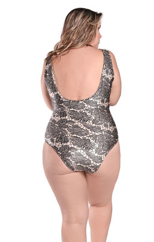 Maiô Body Plus Size Tule Helena Rio