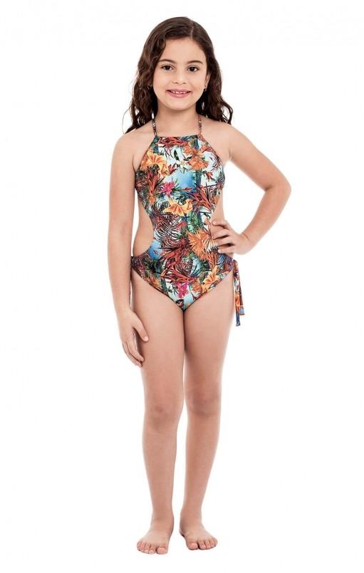 Maio Ju Infantil Stewardess Estampa Floral