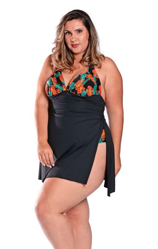 Maiô Plus Size Saida Antonia Fênix