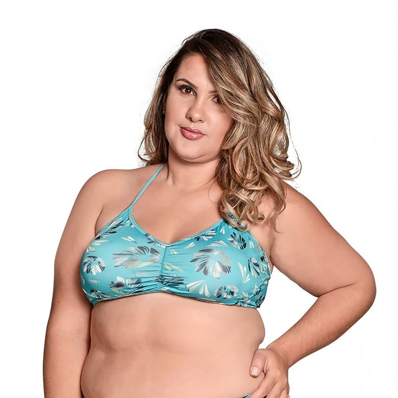 Top Plus Size Frente Única Bojo Nanai
