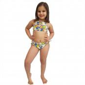 Foto 1 Biquíni Infantil Cropped e Calcinha Larga com Franzido nas Laterais Jeans