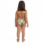 Foto 2 Biquíni Infantil Cropped e Calcinha Larga com Franzido nas Laterais Jeans