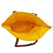 Foto 2 Bolsa de Praia com Textura de Palha Amarelo