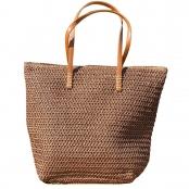 Foto 1 Bolsa de Praia com Textura de Palha Marron Escuro