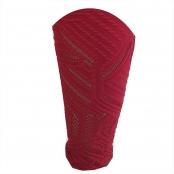 Foto 4 Calça Legging com Cós Alto e Detalhe Vazado na Perna Jacquard Vermelho