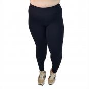 Foto 1 Calça Legging Plus Size com Cós Alto Suplex Preto