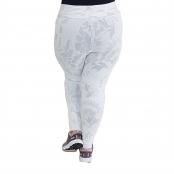 Foto 2 Calça Legging Plus Size com Cós Largo Jacquard com Relevo Branco
