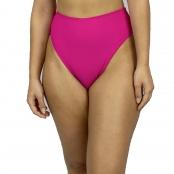 Foto 1 Calcinha de Biquíni Cintura Alta Hot Pant Canelado Pink