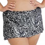 Foto 1 Calcinha de Biquíni Plus Size com Cós Alto e Saia Embutida Zebra