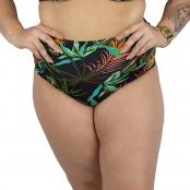 Foto 1 Calcinha de Biquíni Plus Size Hot Pant Franzido Tropicalia