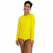 Foto 1 Camiseta Feminina Manga Longa UV 50+ Amarelo
