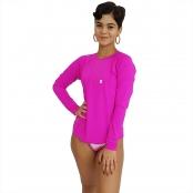 Foto 2 Camiseta Feminina Manga Longa UV 50+ Pink
