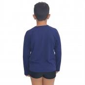 Foto 2 Camiseta Masculina Teen Manga Longa UV 50+ Azul Marinho