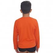 Foto 2 Camiseta Masculina Teen Manga Longa UV 50+ Laranja