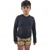 Foto 1 Camiseta Masculina Teen Manga Longa UV 50+ Preto