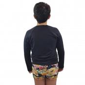 Foto 2 Camiseta Masculina Teen Manga Longa UV 50+ Preto