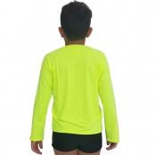 Foto 2 Camiseta Masculina Teen Manga Longa UV 50+ Verde Fluorescente