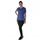 Foto 1 Camiseta Feminina Manga Curta UV 50+ New Trip Azul Bic