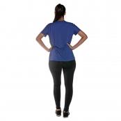 Foto 2 Camiseta Feminina Manga Curta UV 50+ New Trip Azul Bic
