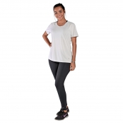 Foto 1 Camiseta Feminina Manga Curta UV 50+ New Trip Branco