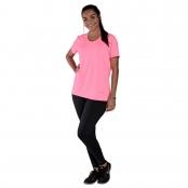 Foto 1 Camiseta Feminina Manga Curta UV 50+ New Trip Rosa Fluorescente