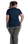 Foto 2 Camiseta Feminina Plus Size Manga Curta UV 50+ New Trip Azul Marinho