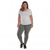 Foto 1 Camiseta Feminina Plus Size Manga Curta UV 50+ New Trip Branco