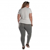 Foto 2 Camiseta Feminina Plus Size Manga Curta UV 50+ New Trip Branco