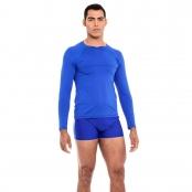 Foto 1 Camiseta Masculina Manga Longa UV 50+ Azul Bic