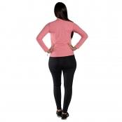 Foto 2 Camiseta Feminina Manga Longa UV 50+ Rosa Claro