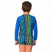 Foto 2 Camiseta Infantil Manga Longa UV 50+ Abacaxi