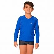 Foto 1 Camiseta Infantil Manga Longa UV 50+ Azul Bic