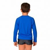 Foto 2 Camiseta Infantil Manga Longa UV 50+ Azul Bic
