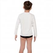 Foto 3 Camiseta Infantil Manga Longa UV 50+ Branco