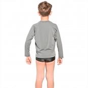 Foto 3 Camiseta Infantil Manga Longa UV 50+ Cinza