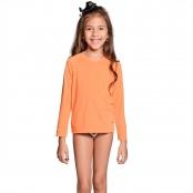 Foto 1 Camiseta Infantil Manga Longa UV 50+ Laranja