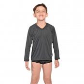 Foto 1 Camiseta Infantil Manga Longa UV 50+ Preto