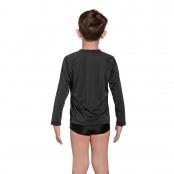 Foto 2 Camiseta Infantil Manga Longa UV 50+ Preto