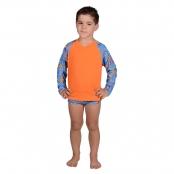 Foto 1 Camiseta Infantil Manga Longa UV 50+ Sorvete Azul