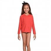 Foto 2 Camiseta Infantil Manga Longa UV 50+ Vermelho