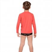 Foto 3 Camiseta Infantil Manga Longa UV 50+ Vermelho