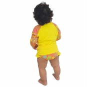 Foto 2 Conjunto Proteção Solar Bebê Infantil Praia UV50+ Caquitos