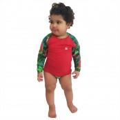 Foto 1 Conjunto Proteção Solar Bebê Infantil Praia UV50+ Melancia