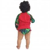 Foto 2 Conjunto Proteção Solar Bebê Infantil Praia UV50+ Melancia
