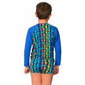 Foto 2 Kit Camiseta Uv Infantil Abacaxi + Sunga Boxer Infantil Abacaxi