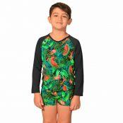 Foto 1 Kit Camiseta Uv Infantil Melancia + Sunga Boxer Infantil Melancia