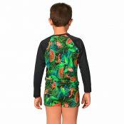 Foto 2 Kit Camiseta Uv Infantil Melancia + Sunga Boxer Infantil Melancia