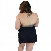 Foto 4 Maiô Body Plus Size com Saída de Praia Embutida Indígena Dourada